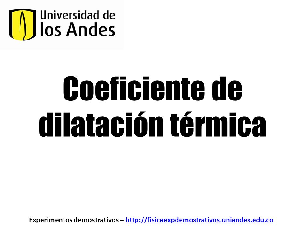 Coeficiente de dilatación térmica