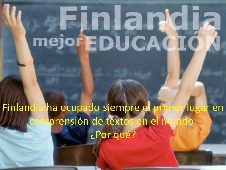 Finlandia ha ocupado siempre el primer lugar en comprensión de textos en el mundo. ¿Por qué