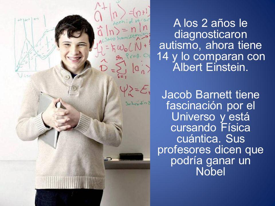A los 2 años le diagnosticaron autismo, ahora tiene 14 y lo comparan con Albert Einstein.