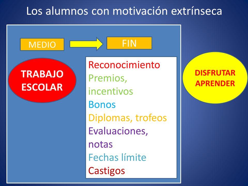 Los alumnos con motivación extrínseca