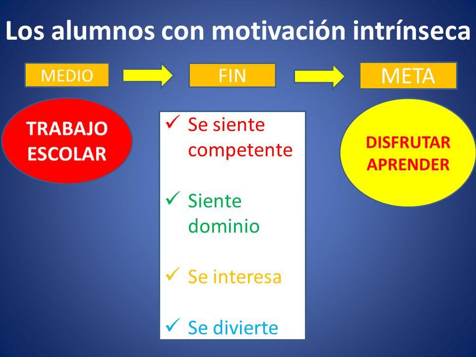 Los alumnos con motivación intrínseca