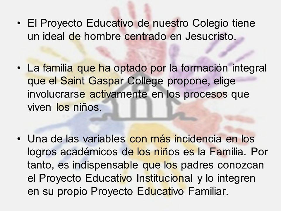 El Proyecto Educativo de nuestro Colegio tiene un ideal de hombre centrado en Jesucristo.