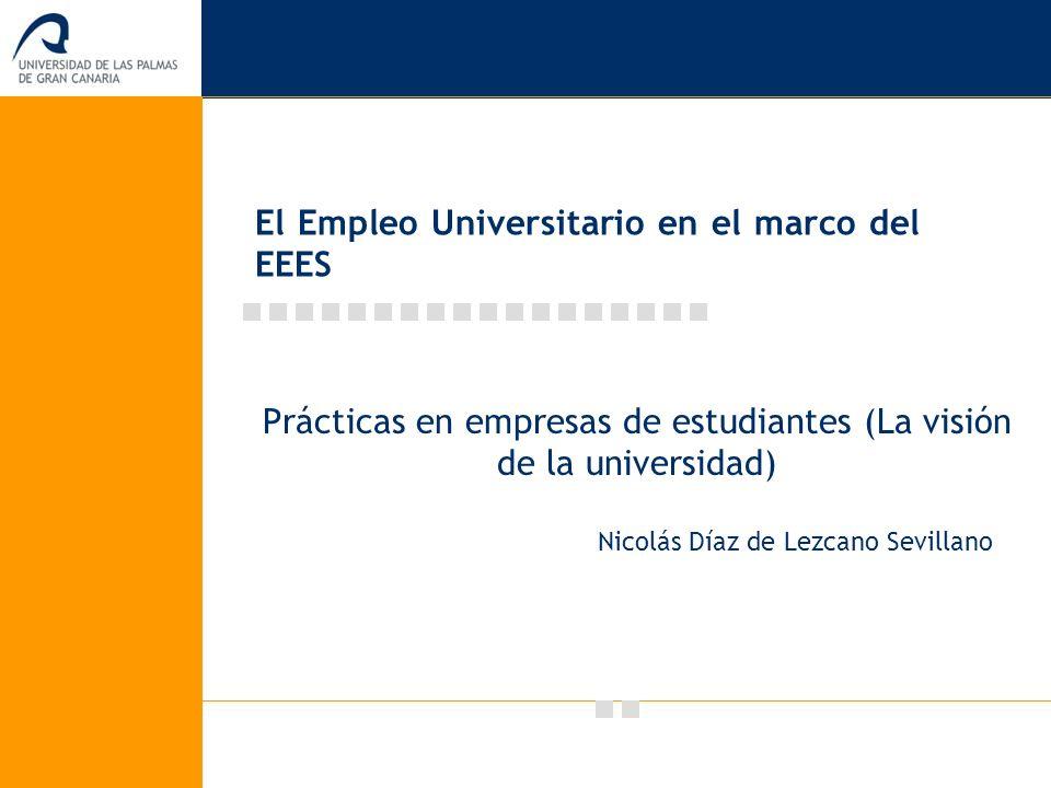 El Empleo Universitario en el marco del EEES