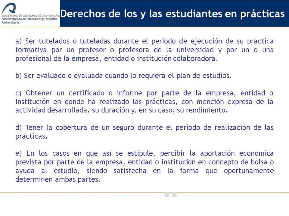 Derechos de los y las estudiantes en prácticas