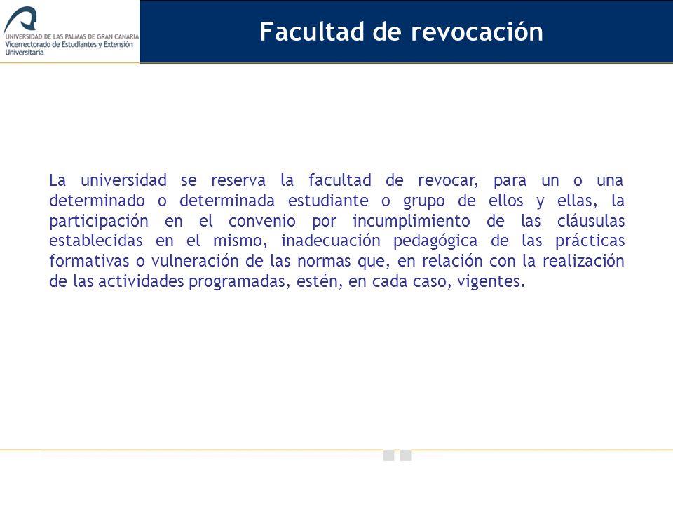 Facultad de revocación