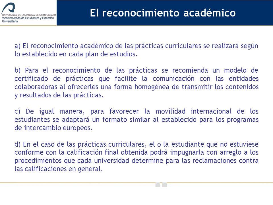 El reconocimiento académico