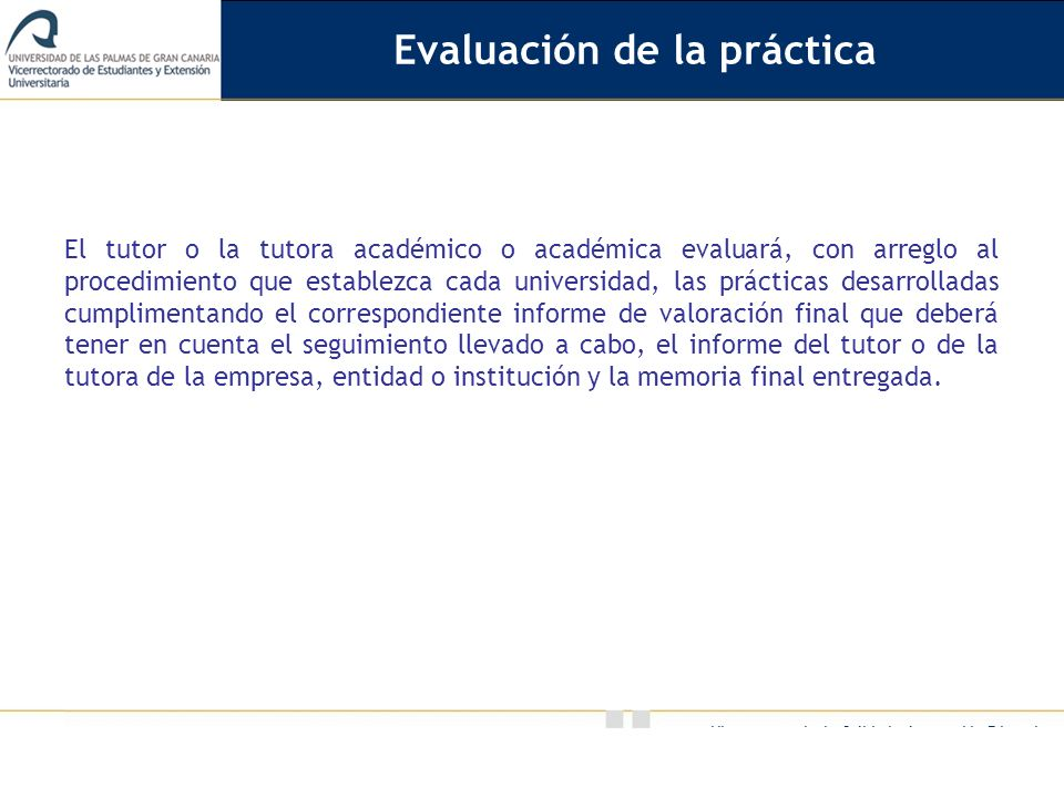 Evaluación de la práctica