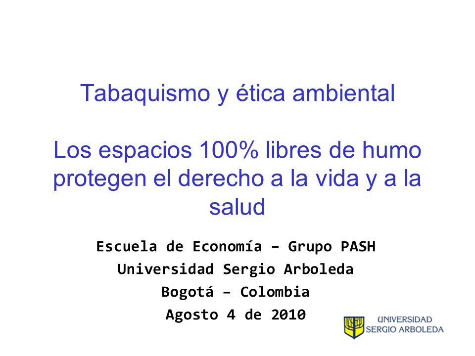 Escuela de Economía – Grupo PASH Universidad Sergio Arboleda