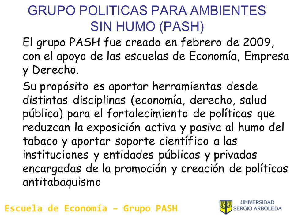 GRUPO POLITICAS PARA AMBIENTES SIN HUMO (PASH)