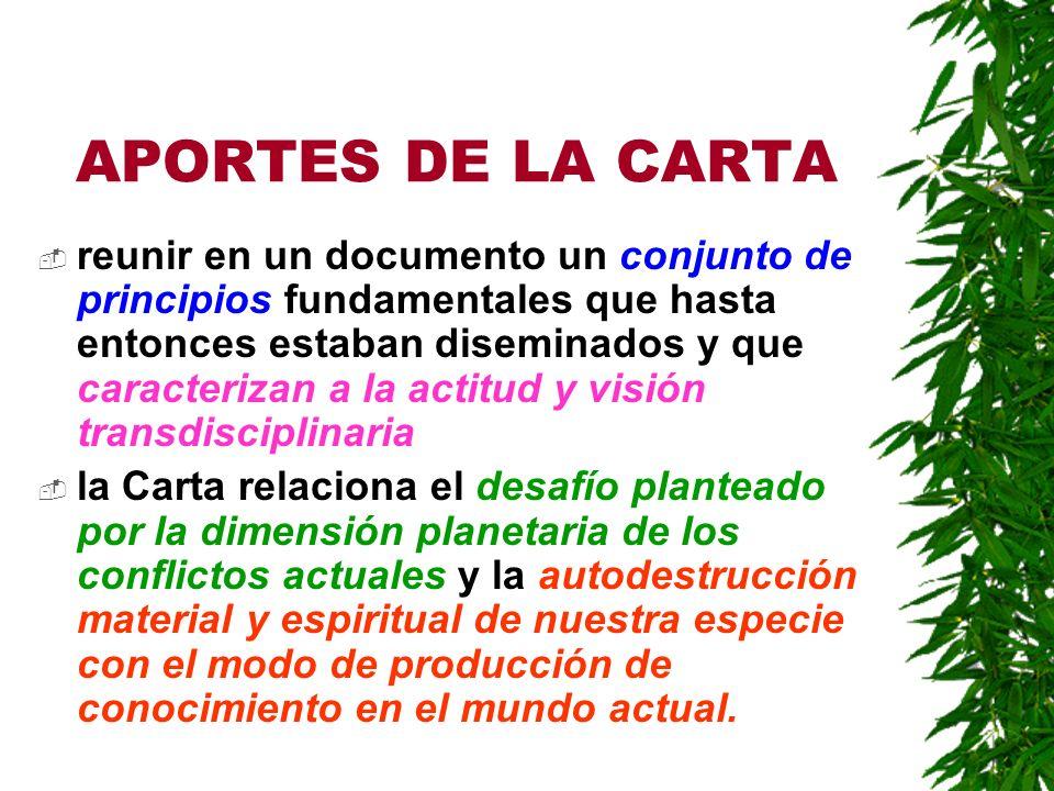 APORTES DE LA CARTA