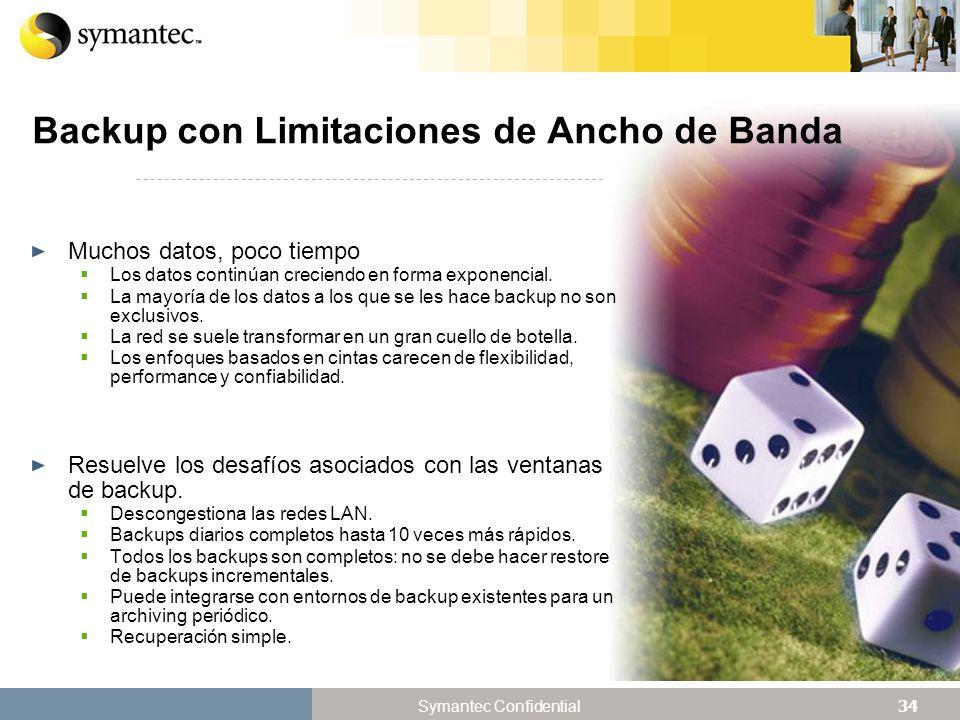 Backup con Limitaciones de Ancho de Banda