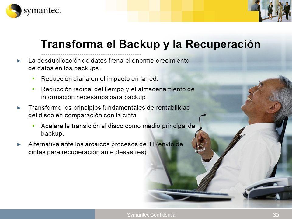 Transforma el Backup y la Recuperación