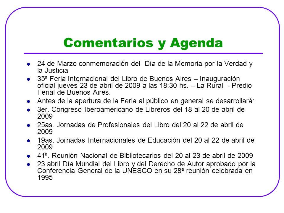 Comentarios y Agenda 24 de Marzo conmemoración del Día de la Memoria por la Verdad y la Justicia.