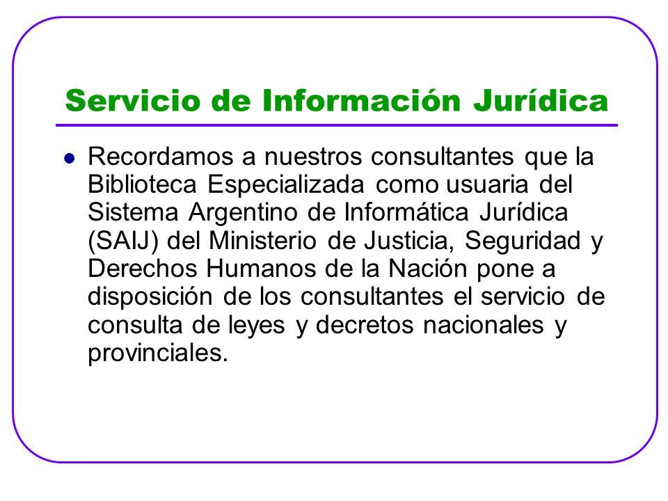 Servicio de Información Jurídica