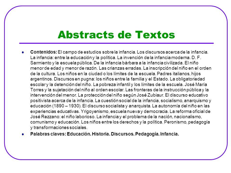 Abstracts de Textos