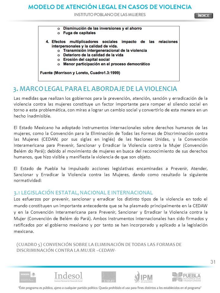 3. MARCO LEGAL PARA EL ABORDAJE DE LA VIOLENCIA