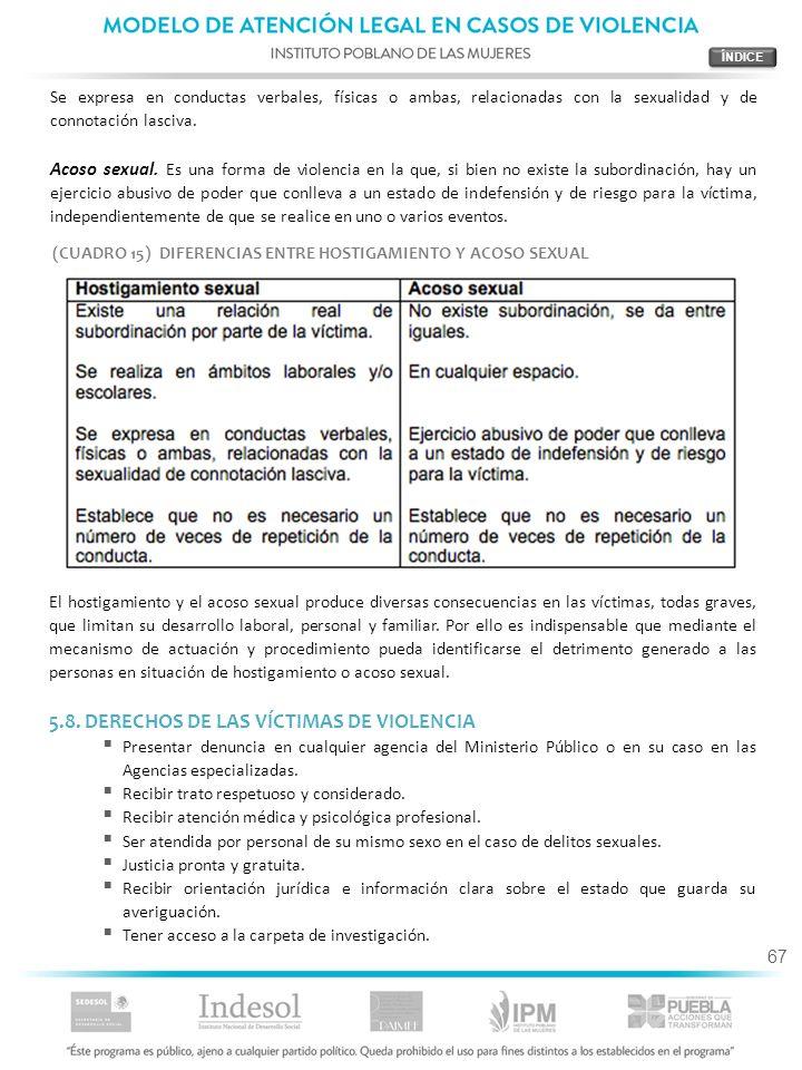 5.8. DERECHOS DE LAS VÍCTIMAS DE VIOLENCIA
