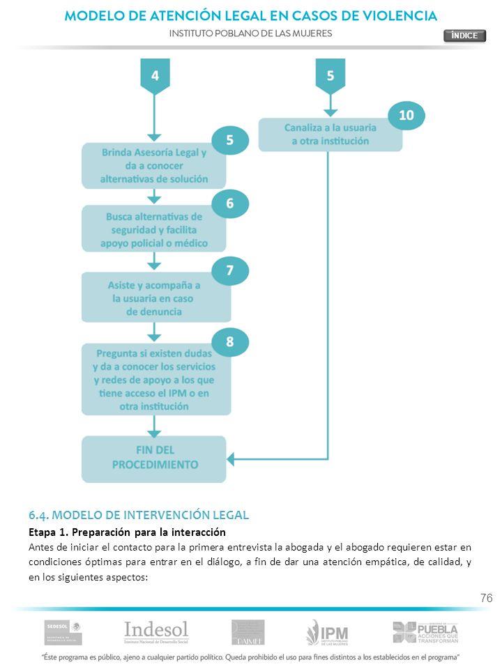 6.4. MODELO DE INTERVENCIÓN LEGAL
