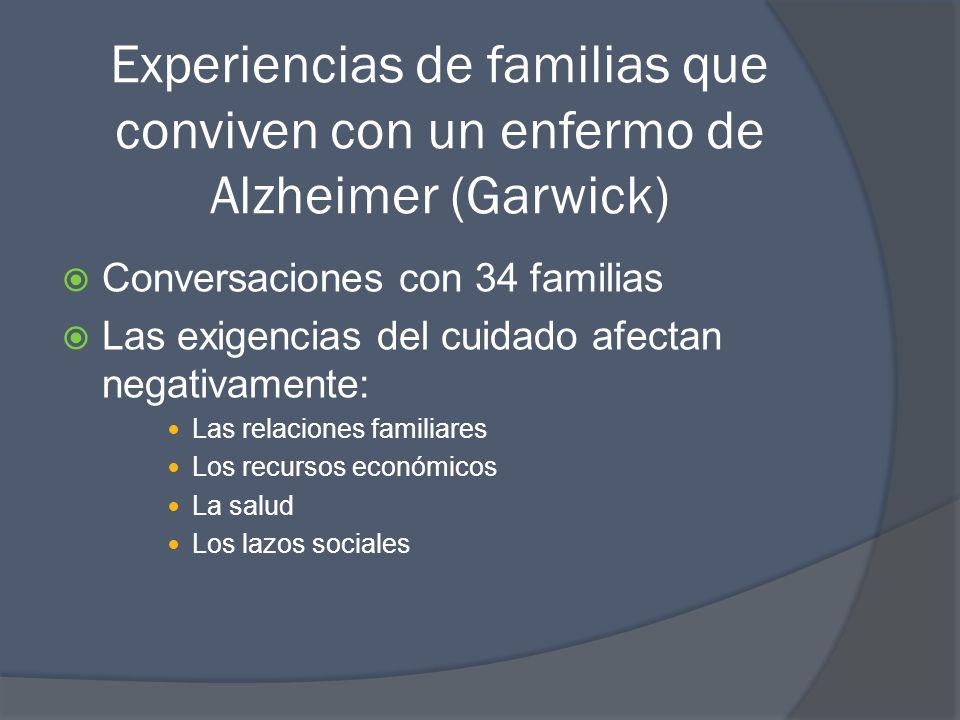 Experiencias de familias que conviven con un enfermo de Alzheimer (Garwick)
