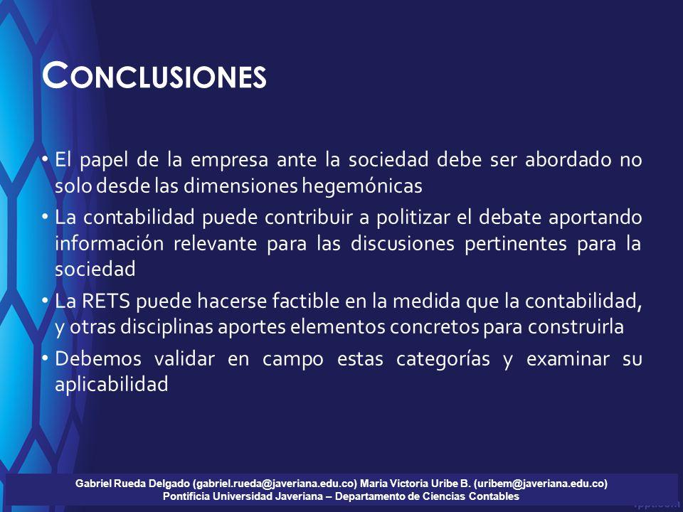 Pontificia Universidad Javeriana – Departamento de Ciencias Contables