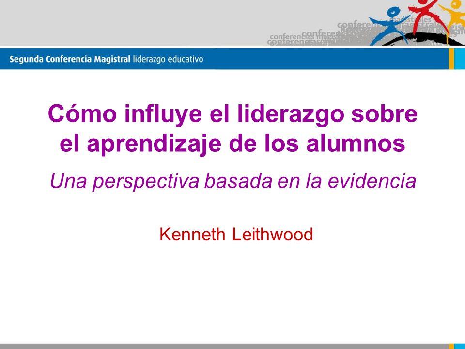 Cómo influye el liderazgo sobre el aprendizaje de los alumnos Una perspectiva basada en la evidencia