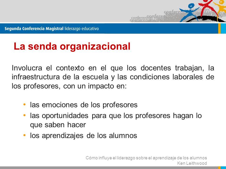 La senda organizacional