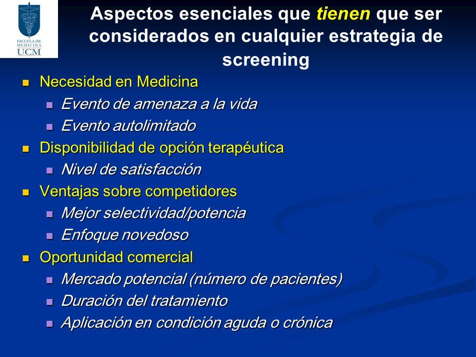 Aspectos esenciales que tienen que ser considerados en cualquier estrategia de screening
