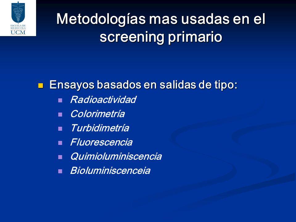 Metodologías mas usadas en el screening primario