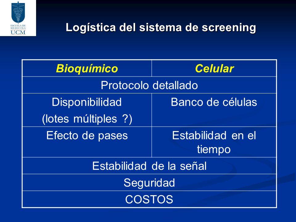 Logística del sistema de screening