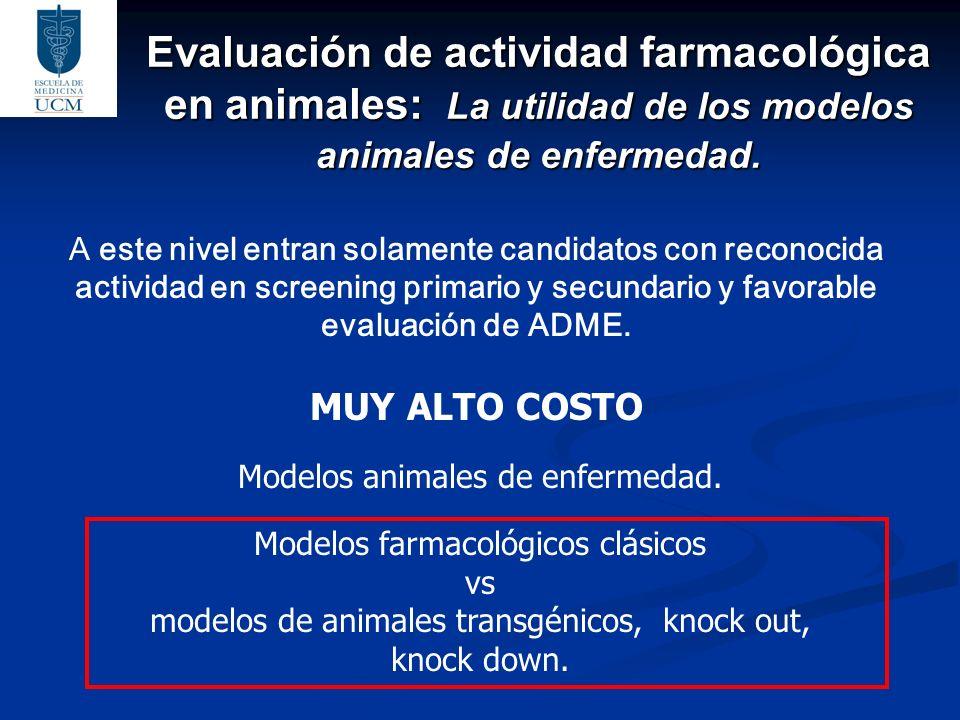 Evaluación de actividad farmacológica en animales: La utilidad de los modelos animales de enfermedad.