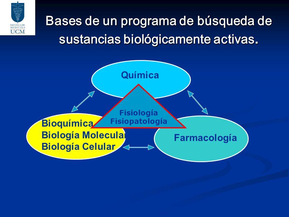 Bases de un programa de búsqueda de sustancias biológicamente activas.