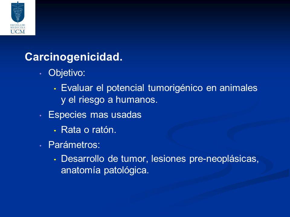 Carcinogenicidad. Objetivo: