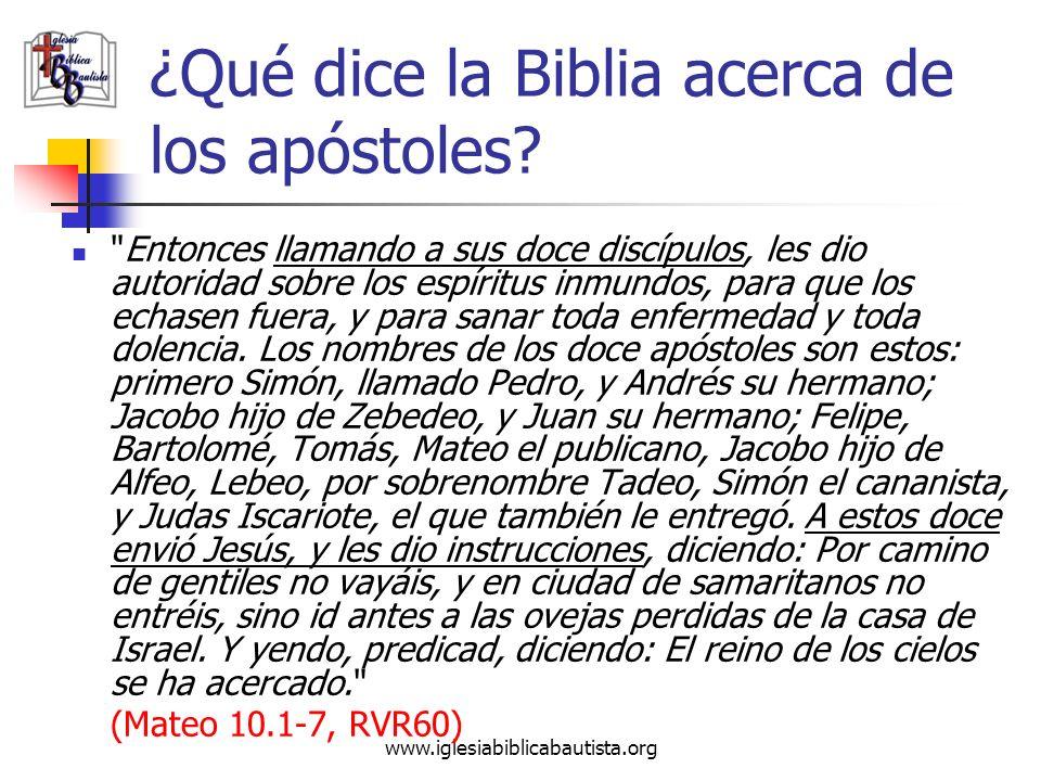 ¿Qué dice la Biblia acerca de los apóstoles