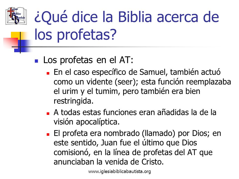 ¿Qué dice la Biblia acerca de los profetas