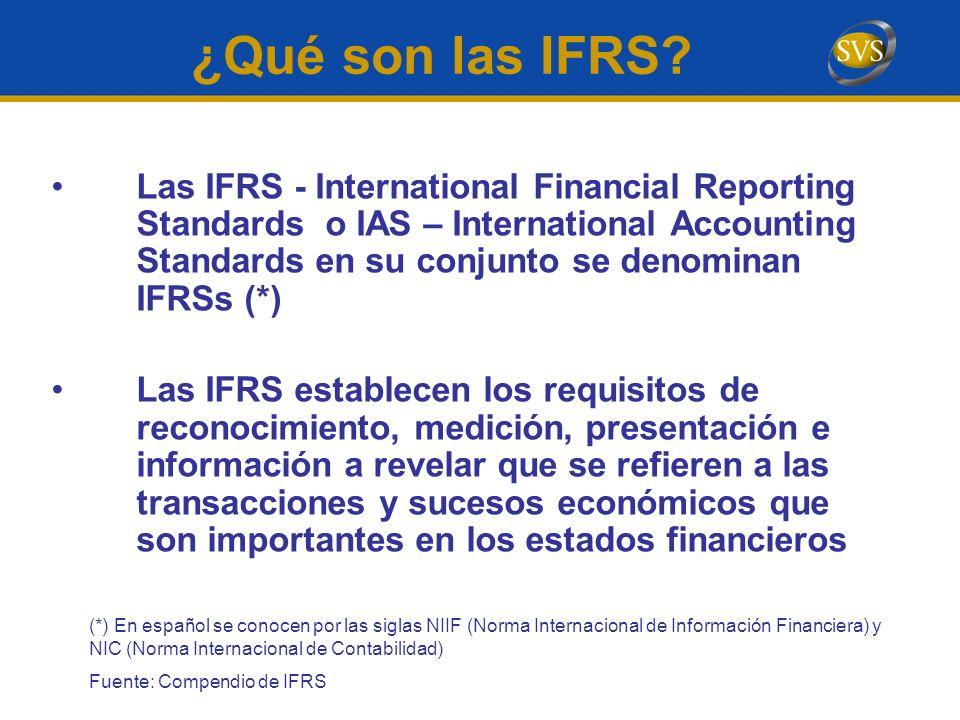 ¿Qué son las IFRS