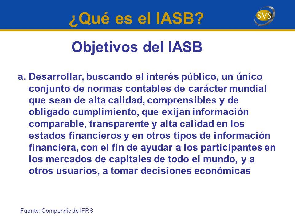 ¿Qué es el IASB Objetivos del IASB
