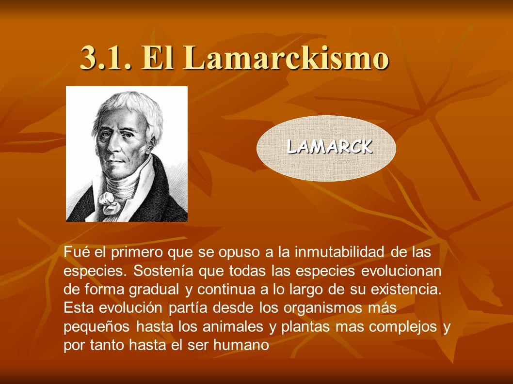3.1. El Lamarckismo LAMARCK