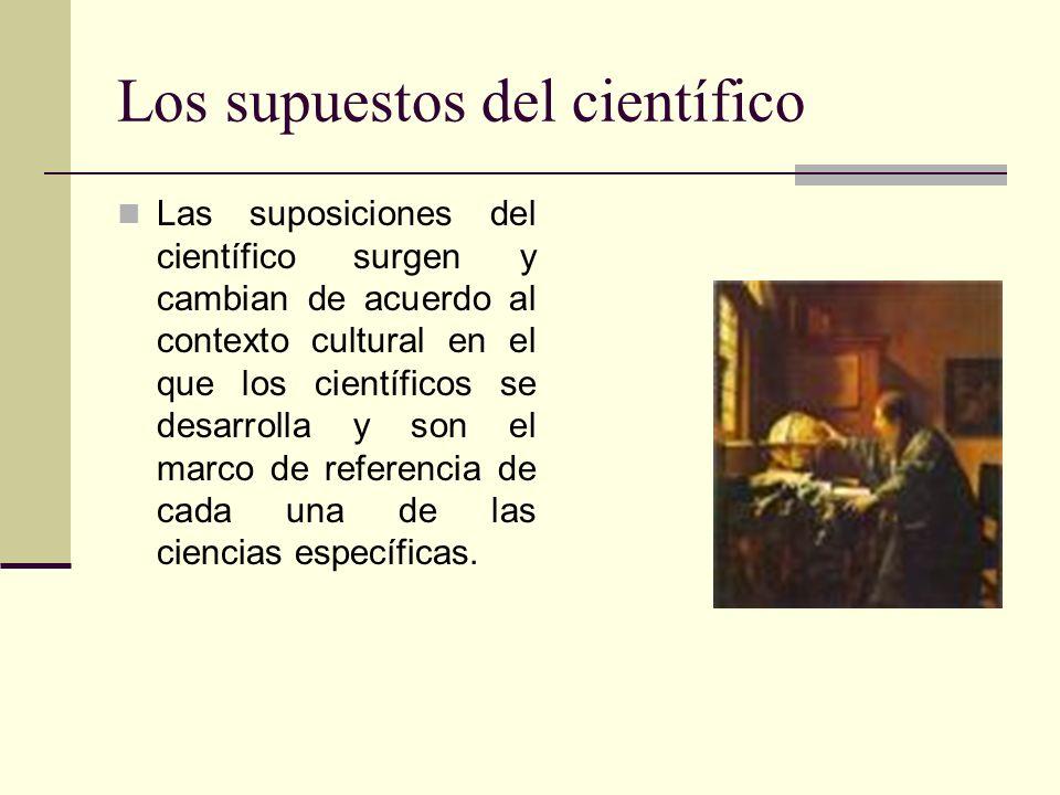 Los supuestos del científico