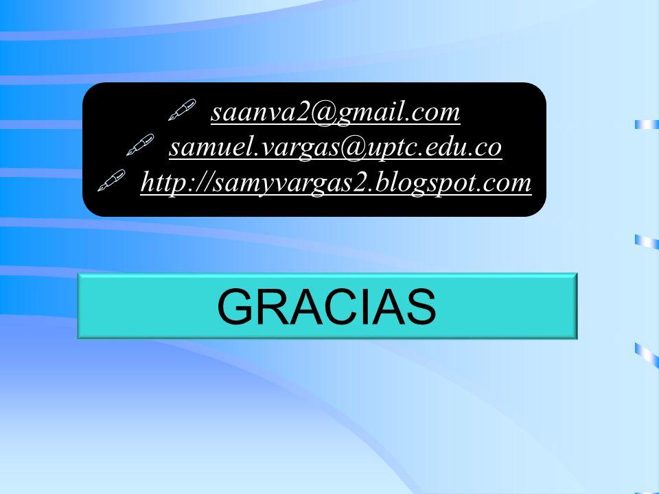GRACIAS saanva2@gmail.com samuel.vargas@uptc.edu.co