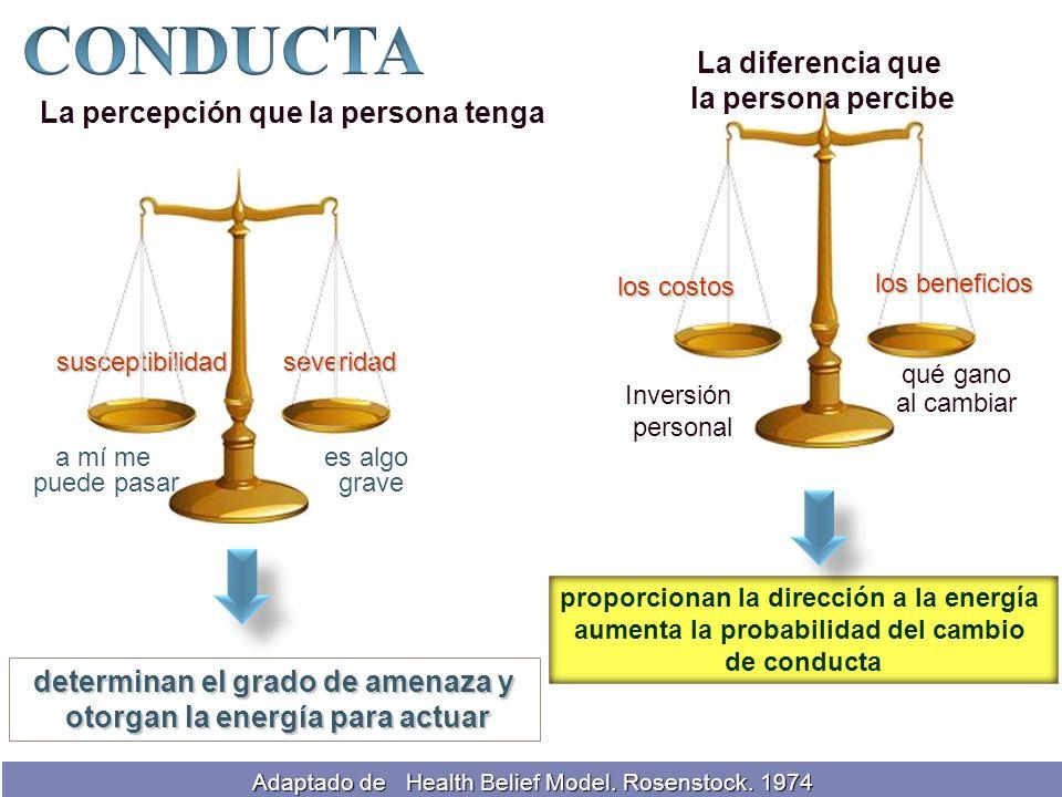 determinan el grado de amenaza y otorgan la energía para actuar