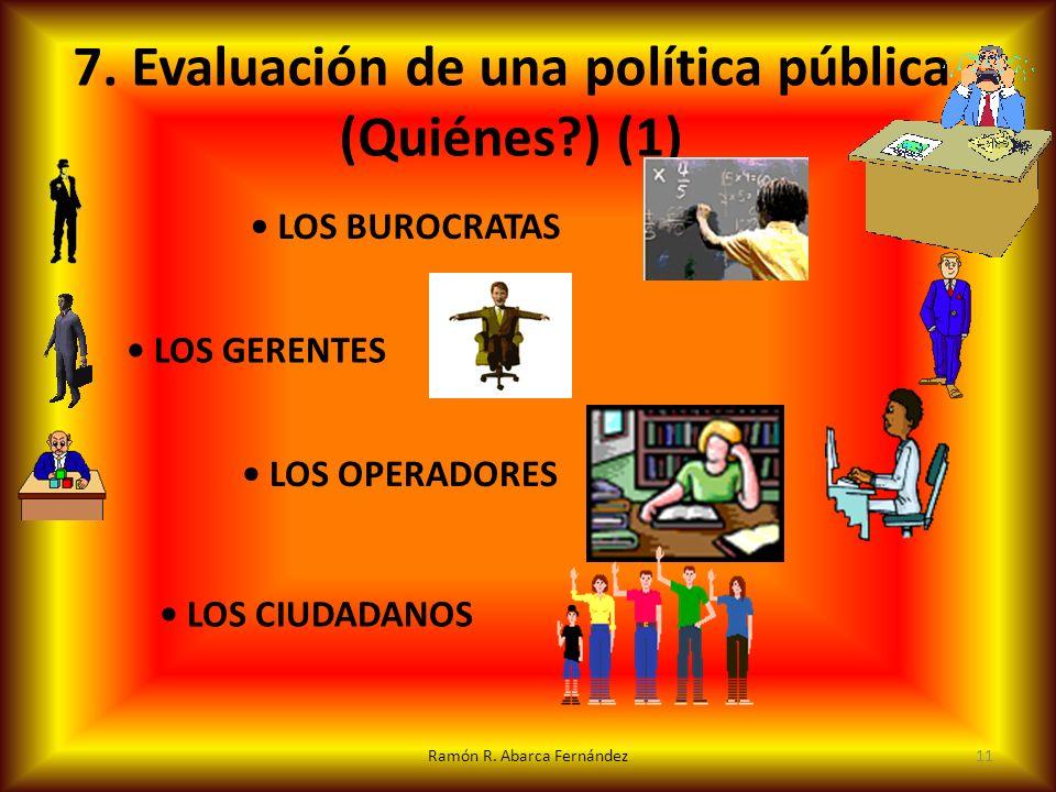 7. Evaluación de una política pública (Quiénes ) (1)