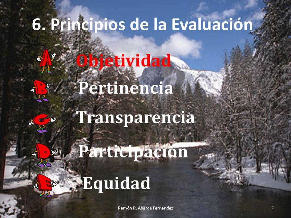 6. Principios de la Evaluación