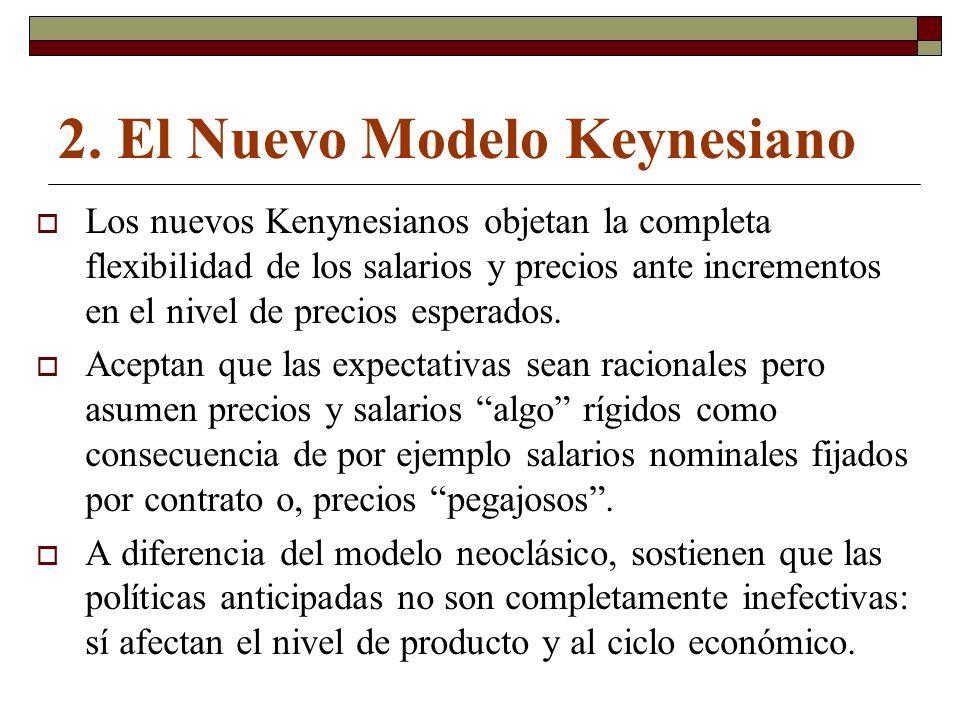 2. El Nuevo Modelo Keynesiano