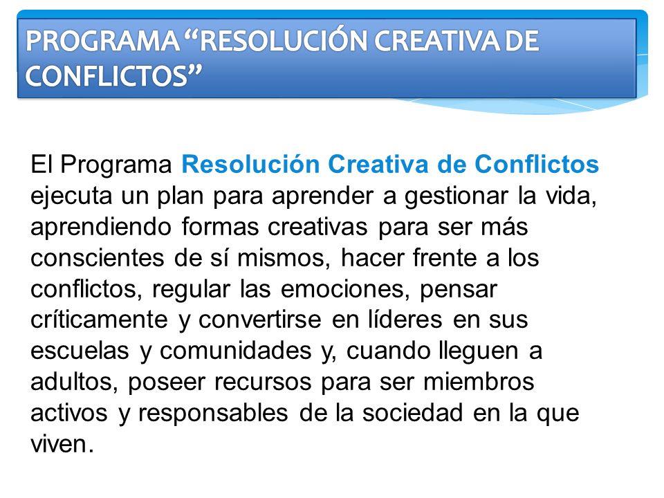PROGRAMA RESOLUCIÓN CREATIVA DE CONFLICTOS