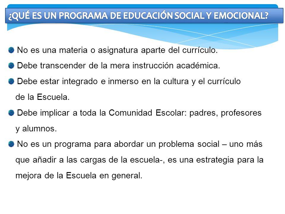 ¿QUÉ ES UN PROGRAMA DE EDUCACIÓN SOCIAL Y EMOCIONAL
