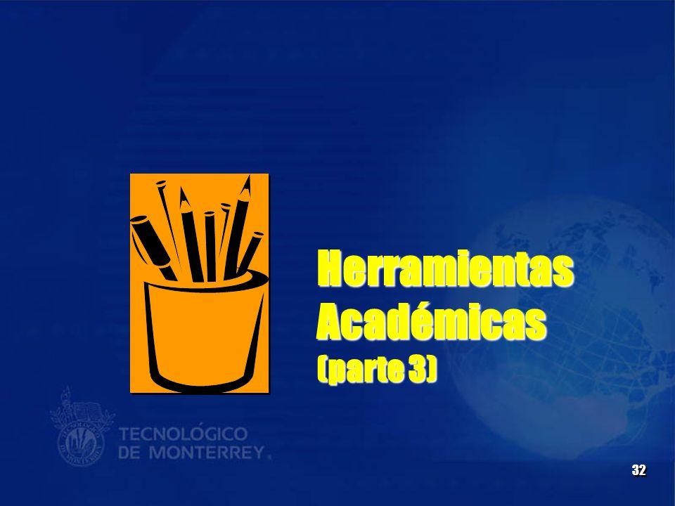 Herramientas Académicas (parte 3)