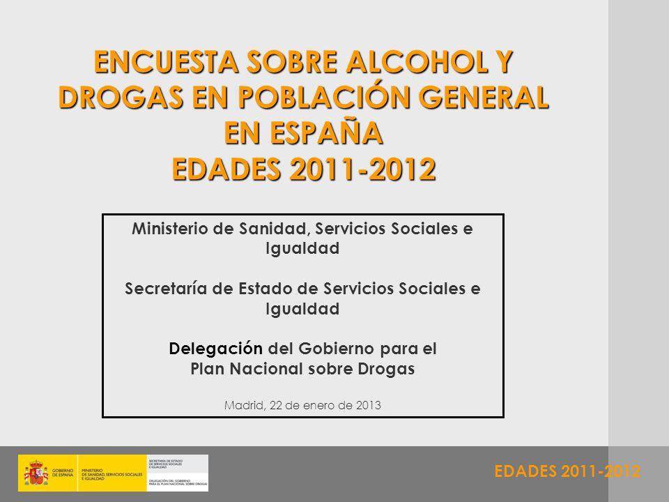 ENCUESTA SOBRE ALCOHOL Y DROGAS EN POBLACIÓN GENERAL EN ESPAÑA EDADES 2011-2012