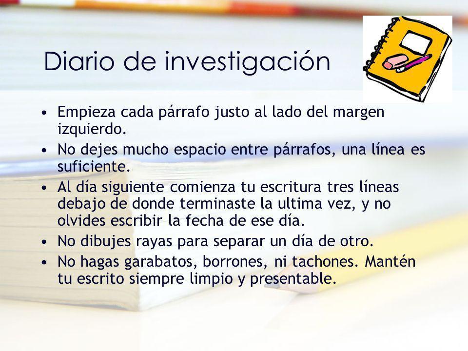Diario de investigación