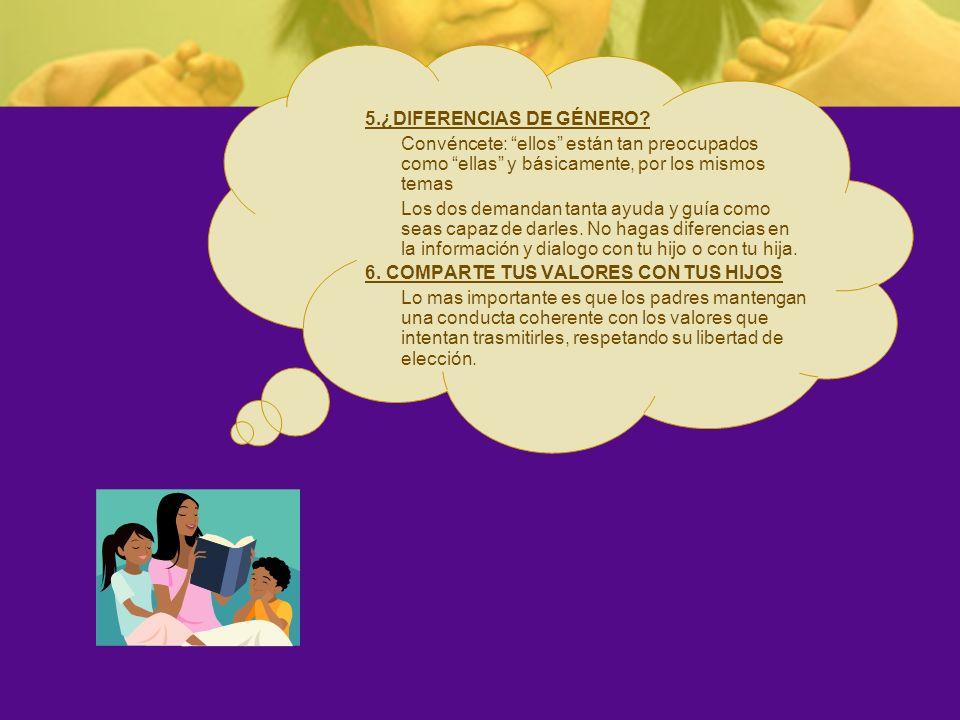 5.¿DIFERENCIAS DE GÉNERO