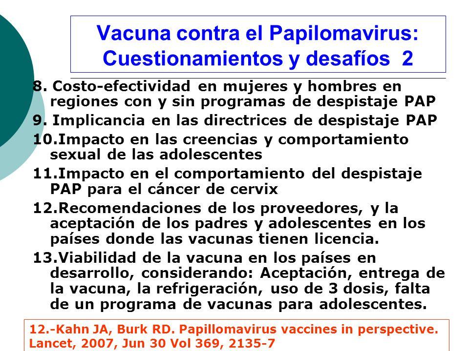 Vacuna contra el Papilomavirus: Cuestionamientos y desafíos 2